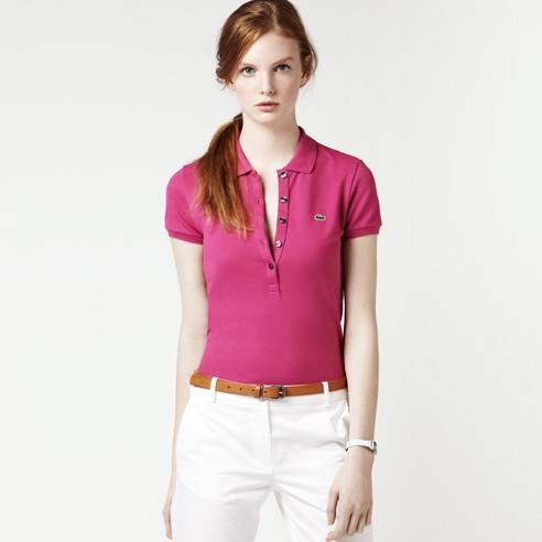 buy popular 6337e b5946 Lacoste Damen Poloshirt Slim Fit